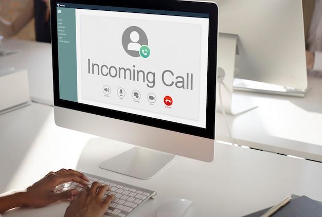 Wywołanie komunikacja połącz koncepcja sieci