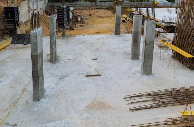 Wzmocnienie szkieletu zbrojenia dla domu szkieletowego z betonu