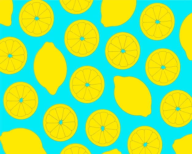 Wzór bezszwowe cytryny. tło z owocami.