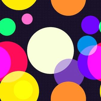 Wzór bezszwowe kolorowe koła
