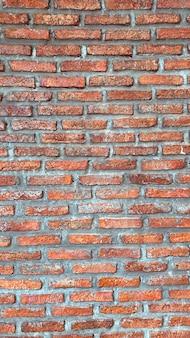 Wzór cegły bez szwu, tekstura ściany z czerwonej cegły na tle