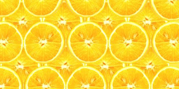 Wzór cytryny. plastry świeżych soczystych żółtych cytryn. tekstura tło, wzór.