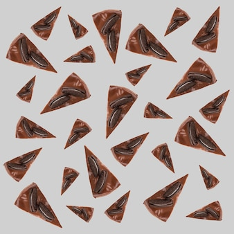 Wzór czekoladowe ciasta z ciasteczkami