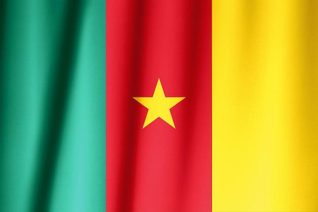 Wzór flagi kamerunu na fakturze tkaniny