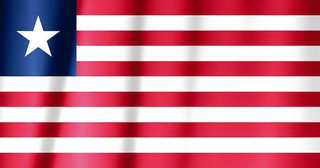 Wzór flagi liberii na fakturze tkaniny