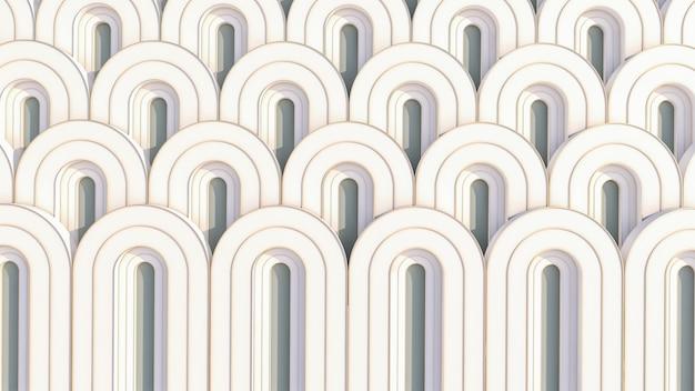 Wzór geometryczny na powierzchni w stylu art deco