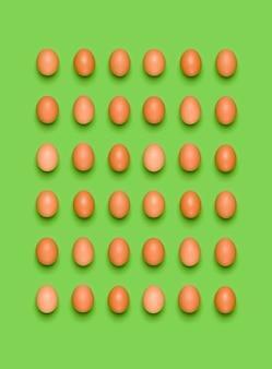 Wzór jajka na zielono