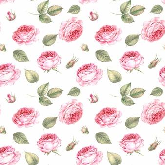 Wzór kwiaty i liście.