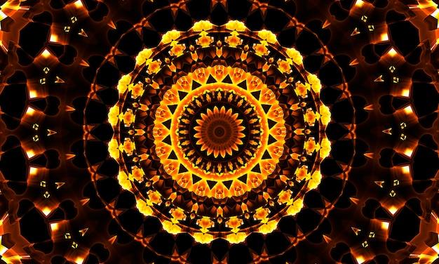 Wzór mandali diwali. wzór do medytacji, jogi, chilloutu, relaksu, teledysków, występów trance, tradycyjnych imprez hinduskich i buddyjskich.