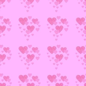 Wzór miłości bezszwowe wakacje różowe tło
