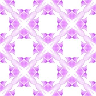 Wzór mozaiki. fioletowy niezwykły letni szyk w stylu boho. tekstylny gotowy ładny nadruk, tkanina na stroje kąpielowe, tapeta, opakowanie. ręcznie rysowane bezszwowe granica zielona mozaika.