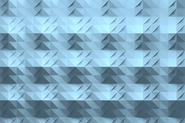 Wzór niebieski z origami przypominającym złożoną powierzchnię