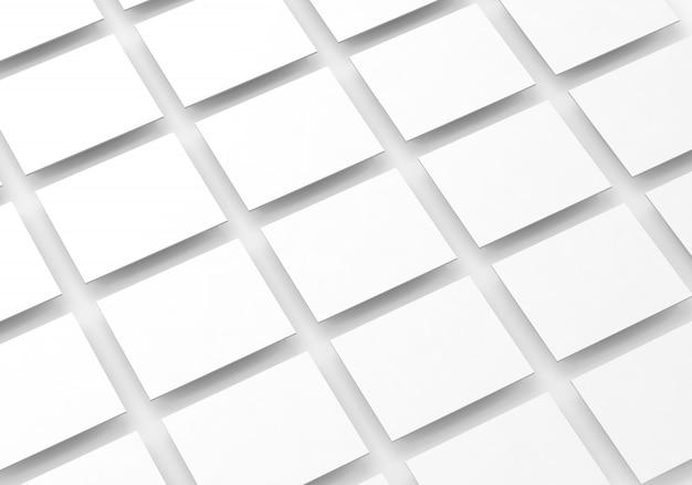 Wzór pola pusty biały prostokąt