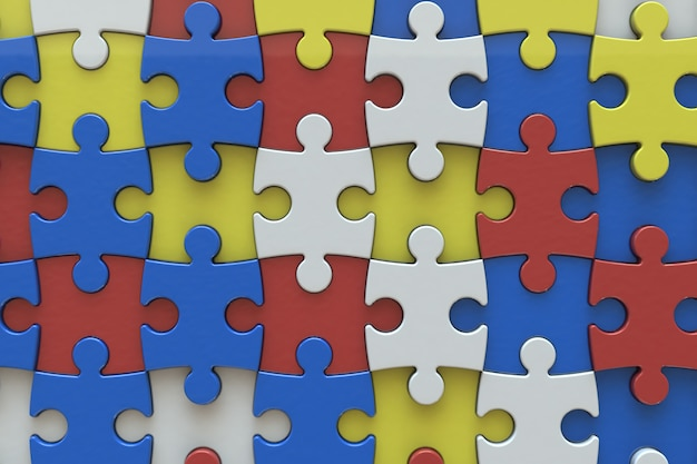 Wzór puzzli
