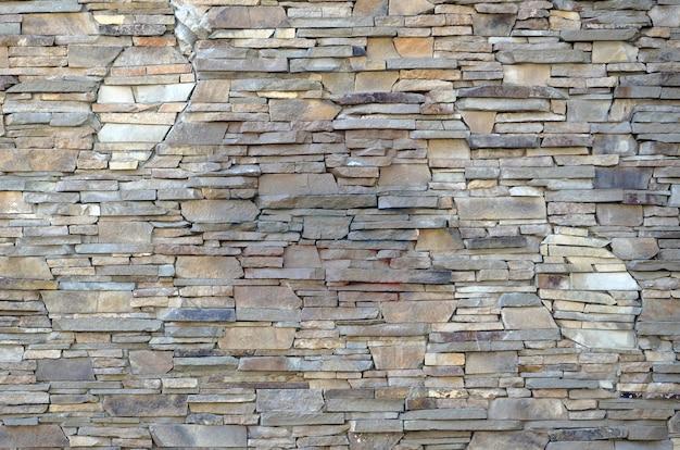 Wzór spłaszczonej kamiennej ściany