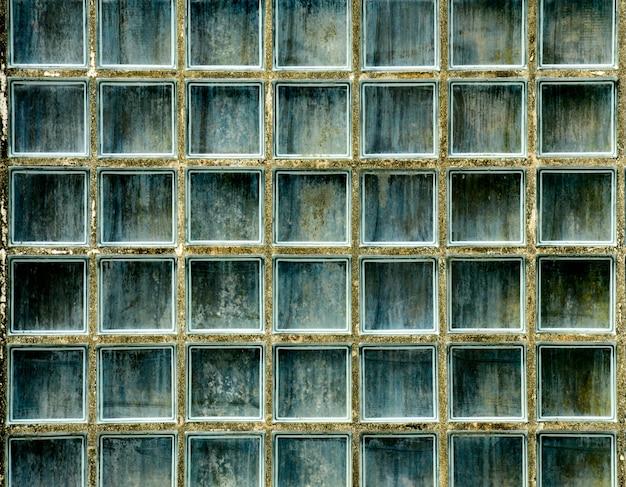 Wzór szklanej bloku ściany tekstura i tło