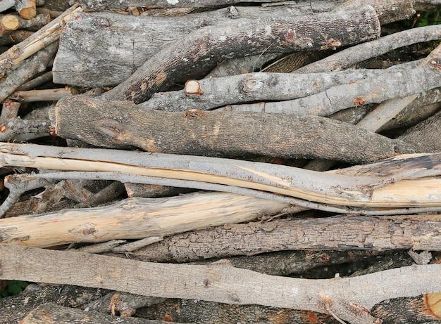 Wzór tekstury drewna opałowego i tła
