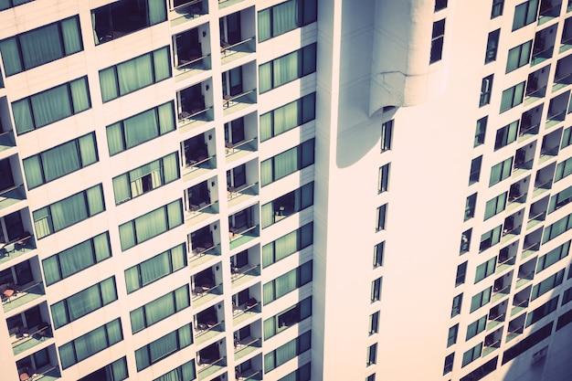Wzór tekstury systemu windows na zewnątrz budynku