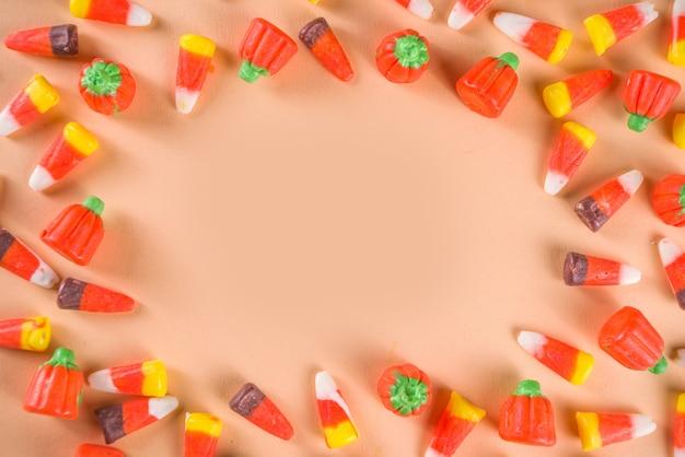 Wzór układu cukierki kukurydziane słodycze