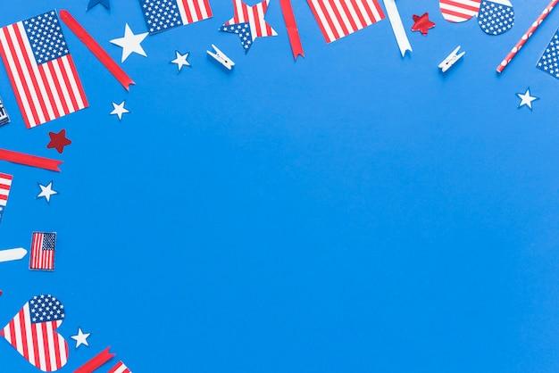 Wzór w kolorach flagi usa