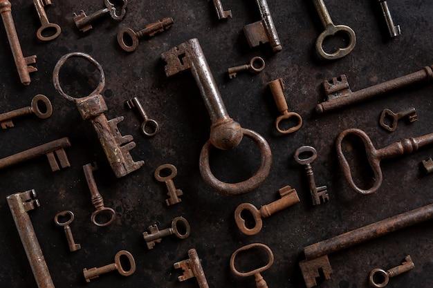 Wzór wielu różnych antycznych kluczy