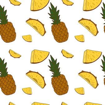 Wzór z ananasem