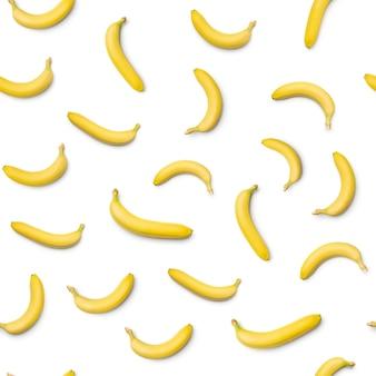 Wzór z bananem. białe tło