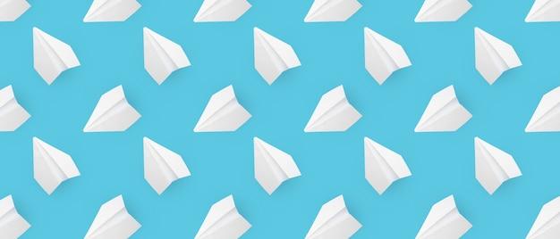 Wzór z białej księgi samolotów na niebieskim tle.