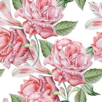Wzór z czerwonych róż