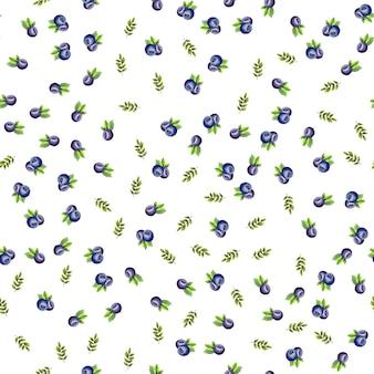 Wzór z dojrzałymi jagodami