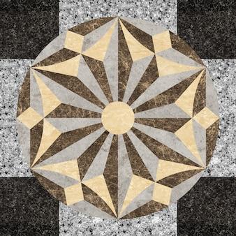 Wzór z kamienia naturalnego marmuru i granitu.