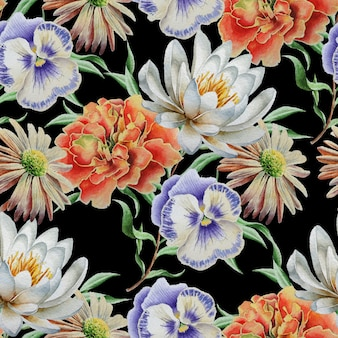 Wzór z kwiatami