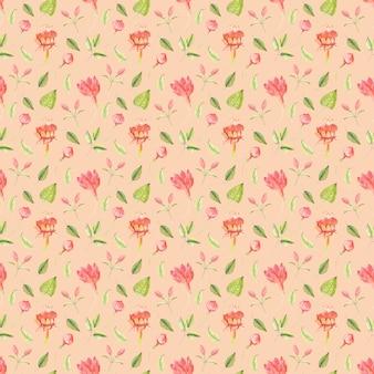 Wzór z kwiatów fuksja i liści