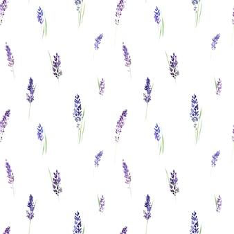 Wzór z kwiatów lawendy bzu