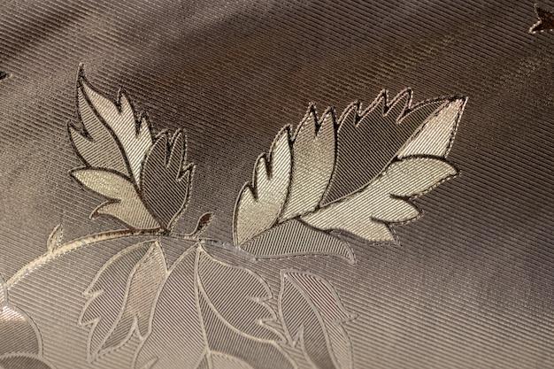 Wzór z liaves czarny, biały i szary.