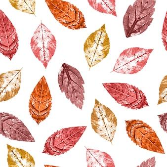 Wzór z liści jesienią
