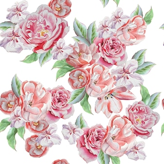 Wzór z pięknych róż