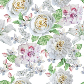 Wzór z pięknymi kwiatami