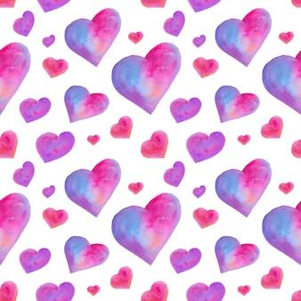 Wzór z ręcznie rysowane serca