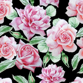 Wzór z różami.