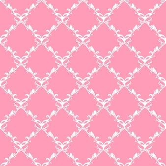 Wzór z różowym ornamentem tła