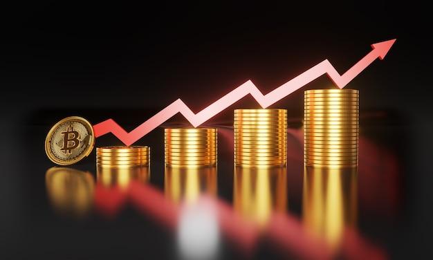 Wzrastająca wartość bitcoinów i innych kryptowalut