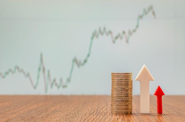 Wzrost gospodarczy, wzrost wartości aktywów na giełdzie, cena akcji, miejsce kopiowania