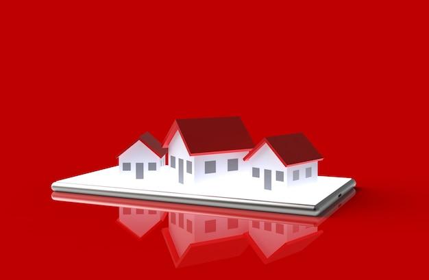 Wzrost nieruchomości w ilustracji 3d