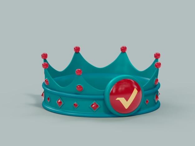 Xrp crown king zwycięzca champion kryptowa waluta ilustracja 3d render