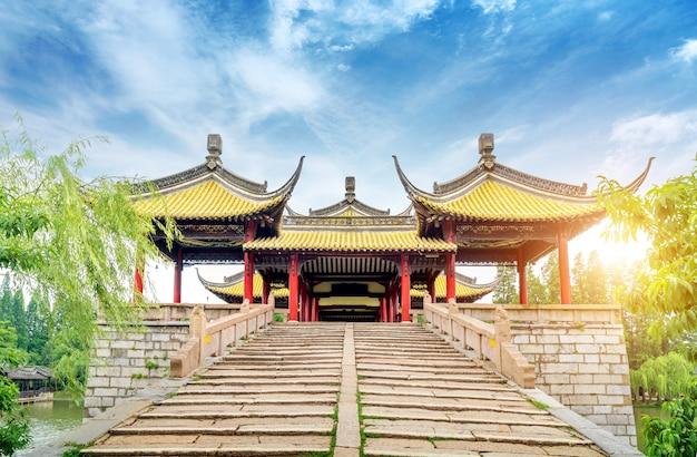 Yangzhou smukły west wuting bridge