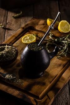 Yerba mate - latynoamerykańska herbata ziołowa z gorącym napojem