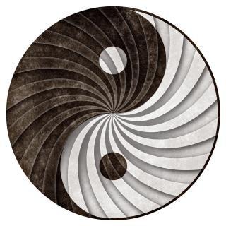 Yin yang cykl grunge