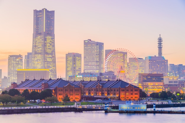 Yokohama skyline miasta