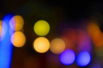 Złoty bokeh abstrakta światło, Pomarańczowy tło